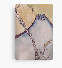 Japanese Mountain Metal Print