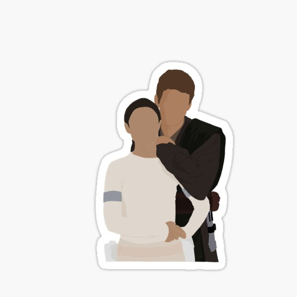 Padme and Anakin Sticker