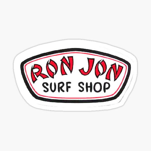 autocollant de surf shop de ron jon Sticker
