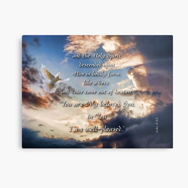 My beloved Son-Luke 3:22 Metal Print