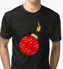 Christmas bomb decoration Tri-blend T-Shirt
