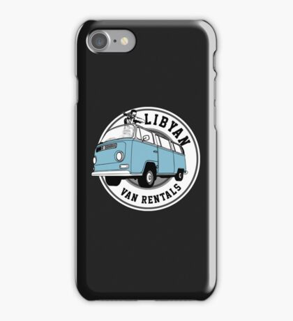 Back to the Future 'Libyan Van Rentals' Logo iPhone Case/Skin