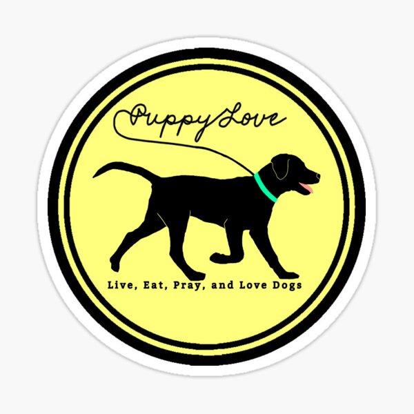 puppy love dog walking Sticker