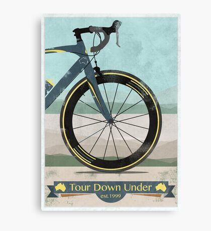 Tour Down Under Bike Race Canvas Print
