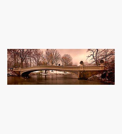 Bow Bridge Winter Panorama Photographic Print