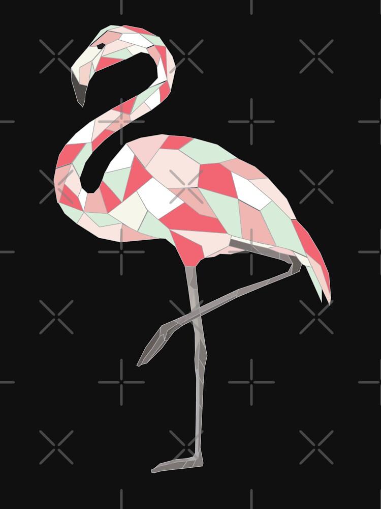 Geometric Flamingo by JoyAndValorLife