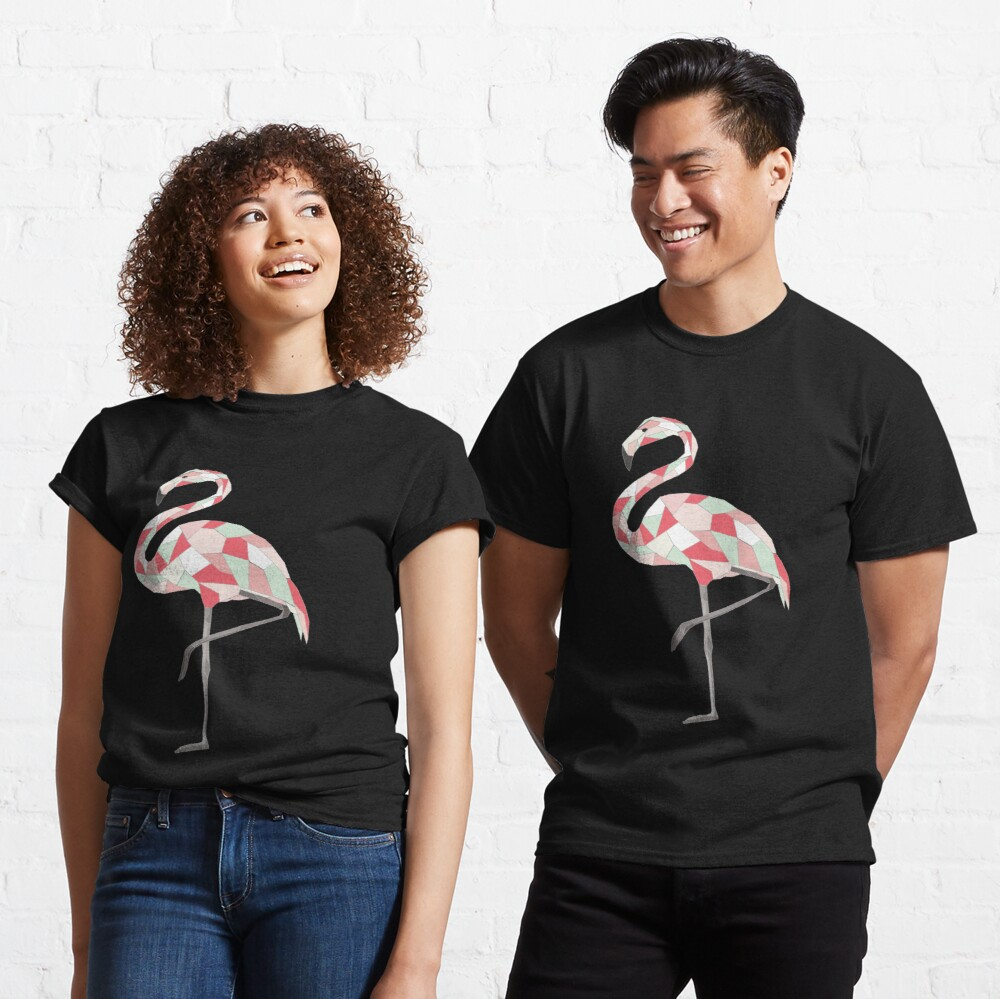 Geometric Flamingo Classic T-Shirt