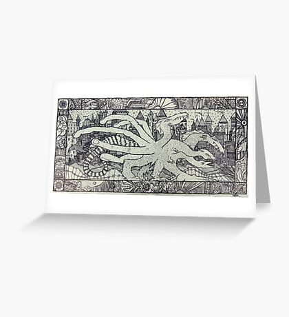 Hydra and the City Greeting Card