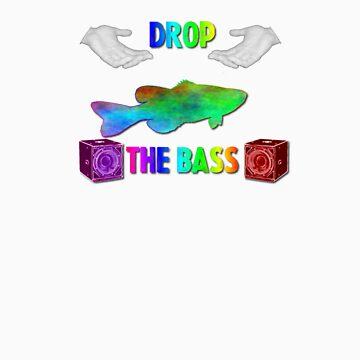 Drop The Bass - Rainbow Dubstep Shirt by notbob1