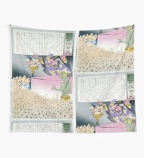 Humorous picture showing Chinese religious practices  Raijin the Japanese God of Thunder ranting to a crowd of Chinese Buddhist worshippers 001 Wall Tapestry