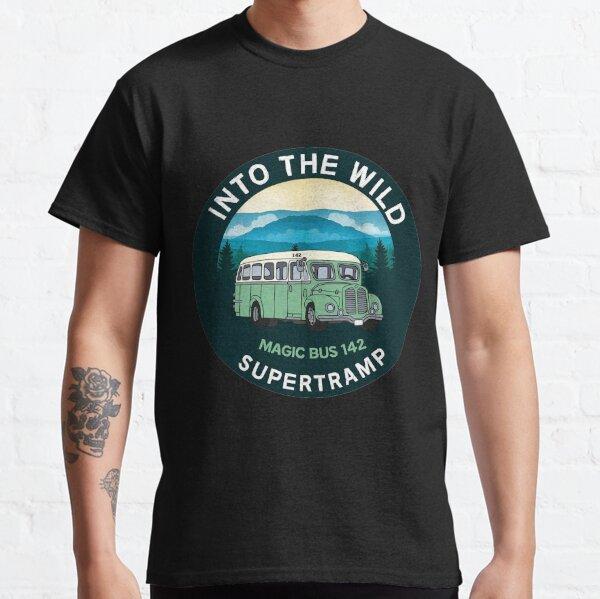 Into The Wild Magic Bus 142 Classic T-Shirt - Christopher McCandless - Alaska - Stampede Trail Alaska - Wilderness  Classic T-Shirt