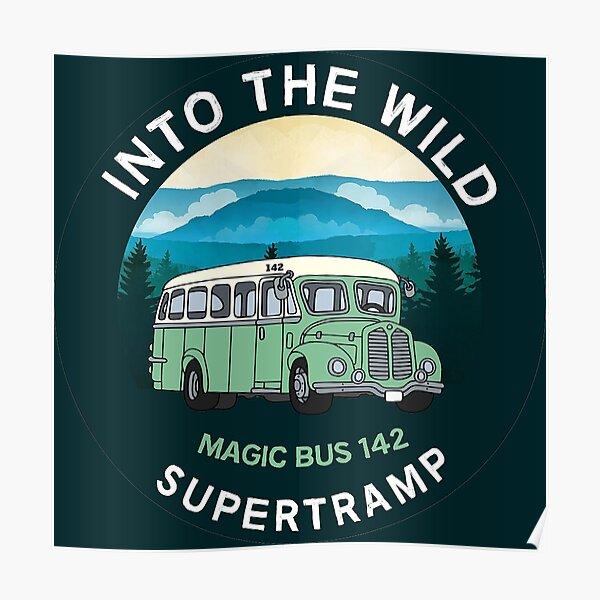 Into The Wild Magic Bus 142 T-shirt classique - Christopher McCandless - Alaska - Stampede Trail Alaska - Désert Poster