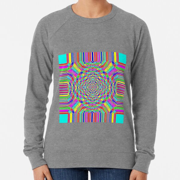 Visual arts, Optical illusion, Concentric Circles, Geometric Art, - концентрические круги Lightweight Sweatshirt