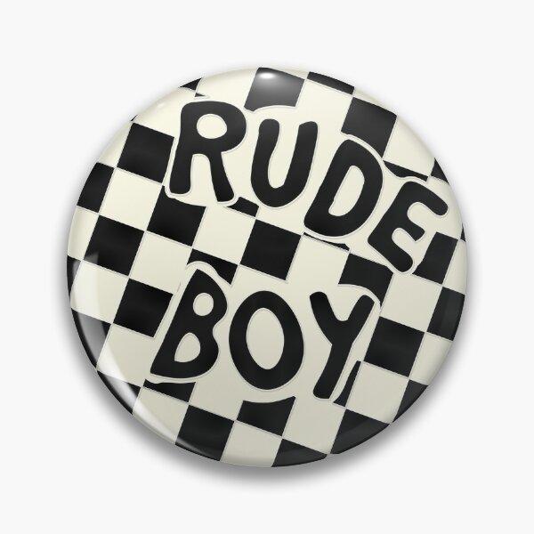 Original RUDE BOY button in light purple | dirty mind Pin