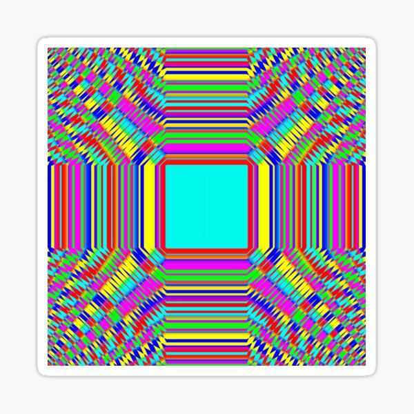 Visual arts, Optical illusion, Concentric Circles, Geometric Art, - концентрические круги Sticker