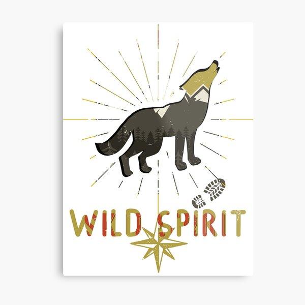 Wild Spirit - Freier Geist - Natur Liebhaber Metallbild