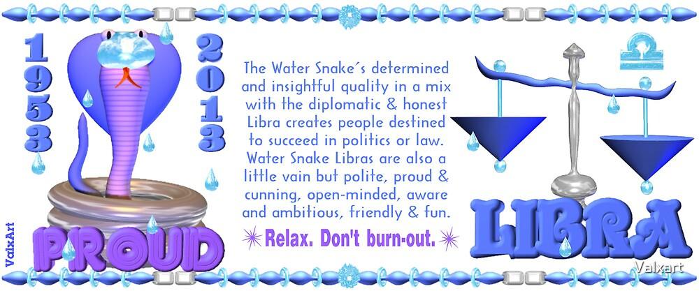 Chinese Zodiac water snake 1953 & 2013 born  Libra by Valxart