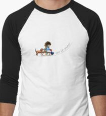 Little Helper Let it Snow {light apparel} Men's Baseball ¾ T-Shirt