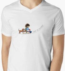 Little Helper Let it Snow {light apparel} Mens V-Neck T-Shirt