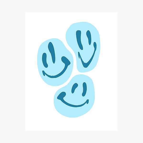 BLUE SMILES  Photographic Print
