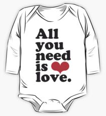 All You Need Is Love ♥  One Piece - Long Sleeve