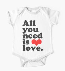 All You Need Is Love ♥  One Piece - Short Sleeve