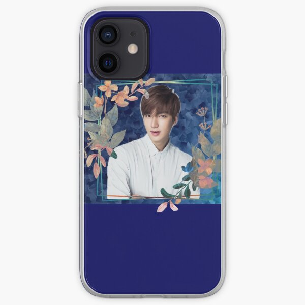 [Lee Min Ho + Blue Flowers] iPhone Soft Case