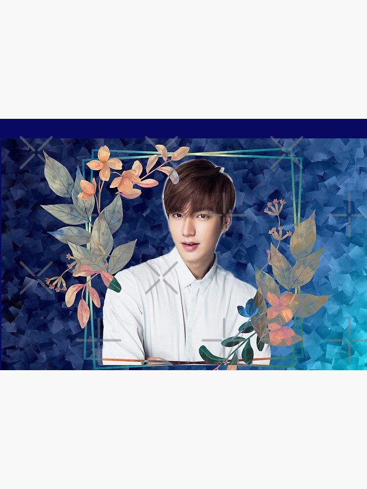 [Lee Min Ho + Blue Flowers] by humanlydesigned