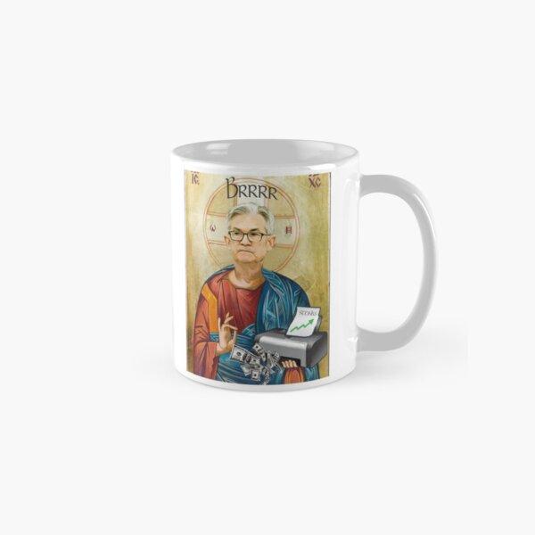 Jerome Powell Jesus | JPow Jesus | Printer goes Brrr Classic Mug