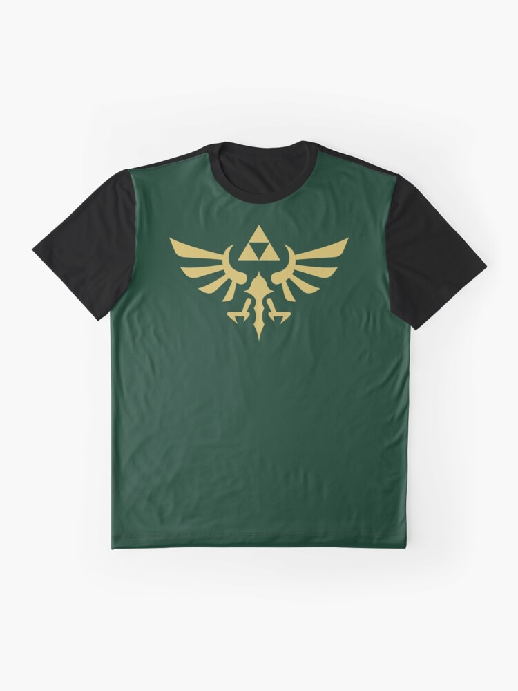 Alternate view of The Legend of Zelda Royal Crest (gold) Graphic T-Shirt