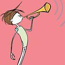 Bugle Boy On Pink by robertemerald