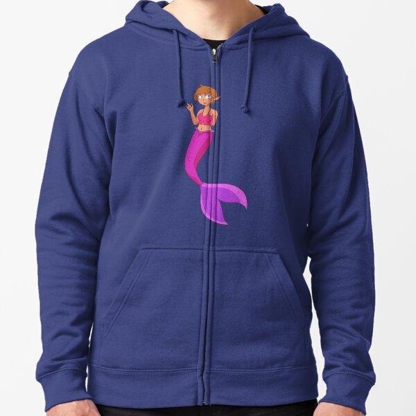 Peace Mermaid Zipped Hoodie