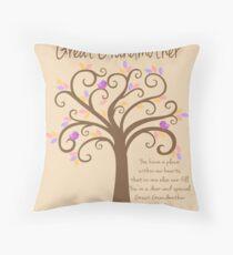 Great Grandmother/Grandchildren Tree Print Throw Pillow