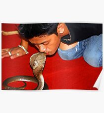 Have you ever tried kissing a snake???? Poster