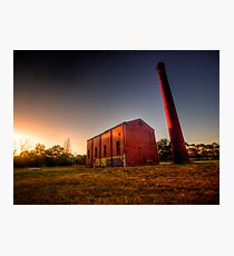 Old Mill at Sunset Photographic Print