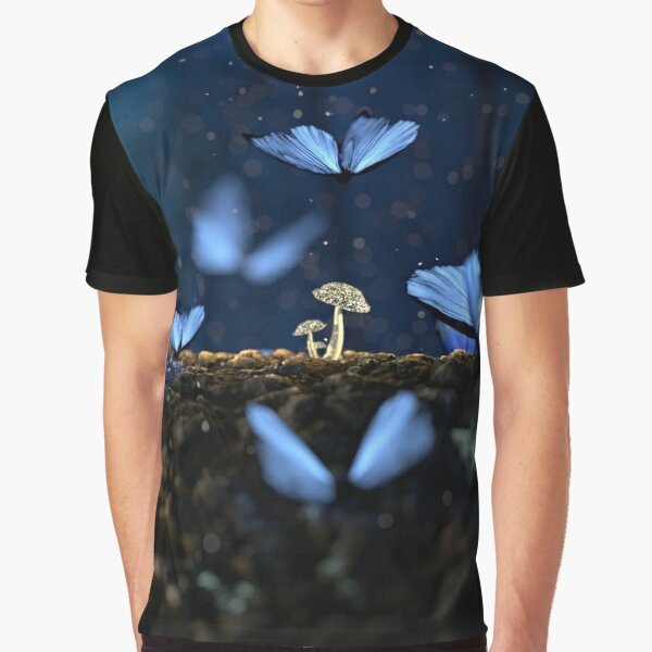Butterfly in a dream nature art for T-Shirt Backpacks Iphone cases Laptop skin and Clock by Impact Shop Graphic T-Shirt