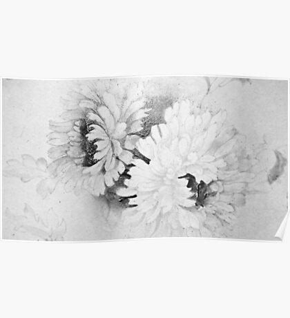Victorian Chrysanthemum. Poster