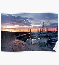 Desenzano Del Garda Marina waterfront and the Lighthouse Poster