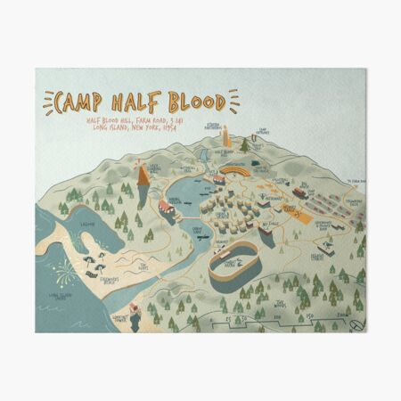 Map of Camp Half Blood Art Board Print