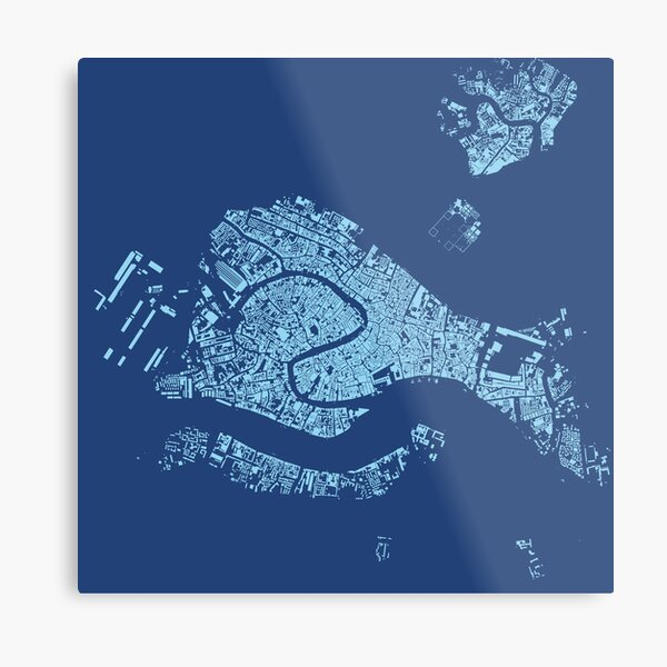 Cities: Venice, midnight blue Metal Print