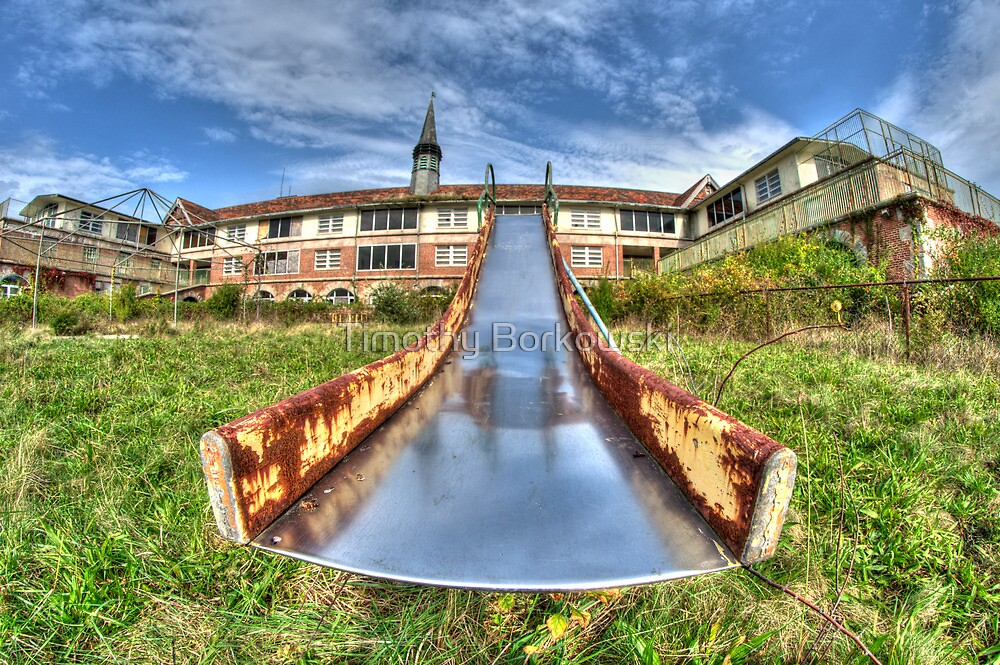 Old Playground Slide by Timothy Borkowski