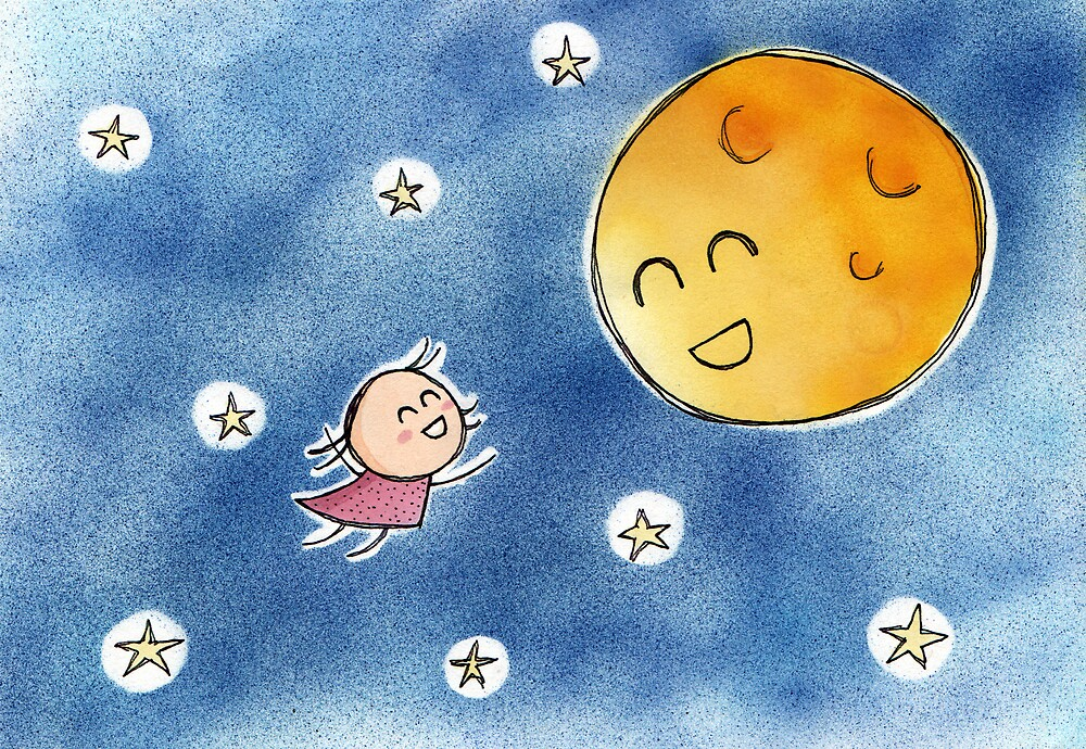 Hello Moon Friend by Josh Bush