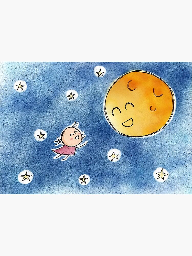 Hello Moon Friend by Cheeseness