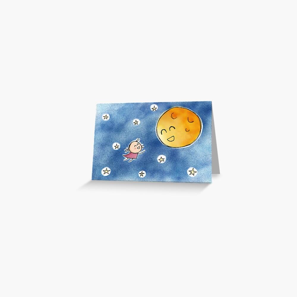 Hello Moon Friend Greeting Card