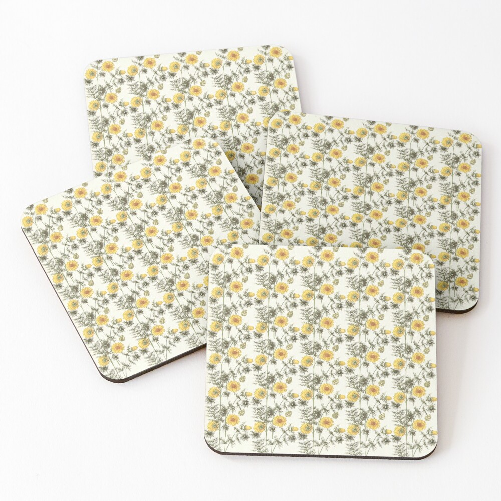 Spring Adonis Coasters (Set of 4)