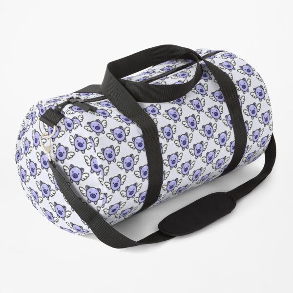 When Pigs Fly: Blue Duffle Bag