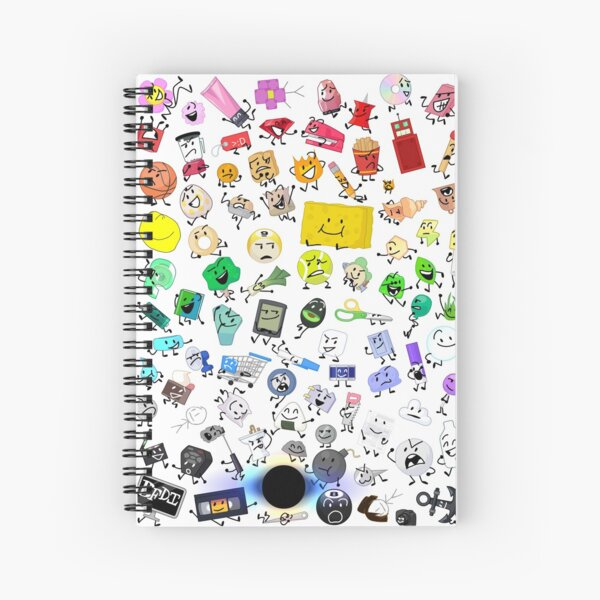 BFB and TPOT Full Cast print Spiral Notebook