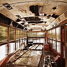 Old Rusty School Bus In Motion HDR by Bo Insogna