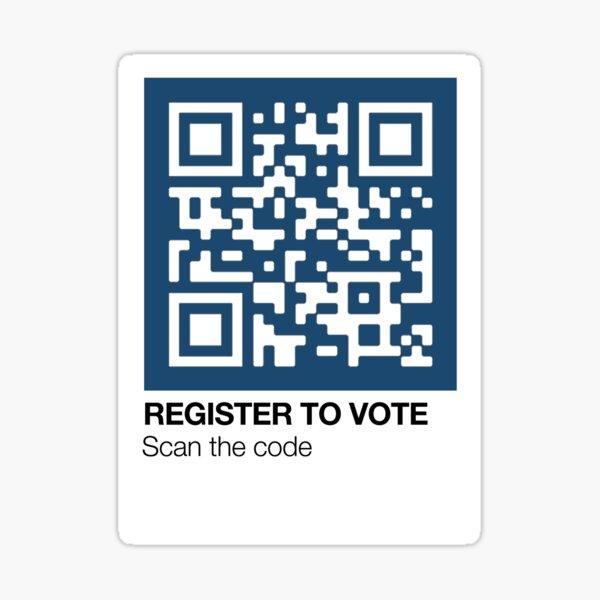 Register to Vote Pantone Swatch Sticker | QR Code | Presidential Election Sticker
