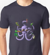 Octopus juggling vegetables from Valxart.com  Unisex T-Shirt